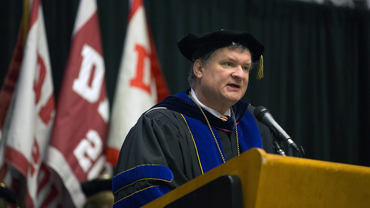 Dr. Cloyd at Commencement