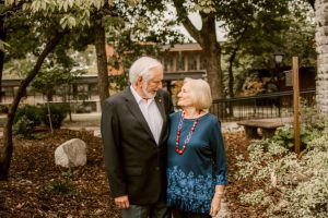 Alumni couples take a walk down memory lane.