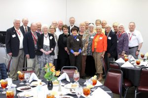 Alumni of all ages gather for the lifetime reunion and dinner.
